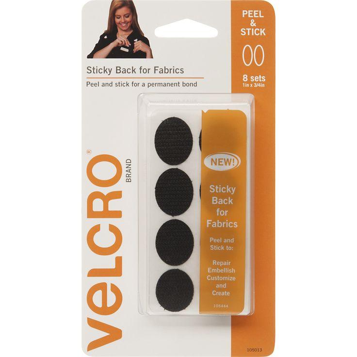 "VELCRO(R) Brand Sticky Back For Fabric Ovals 1""""X.75""""-Black"