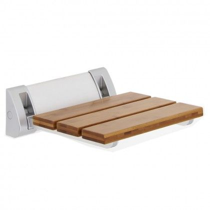 Bamboo Folding Shower Seat Wide Base - Shower Seats, Stools and Benches - Accessories