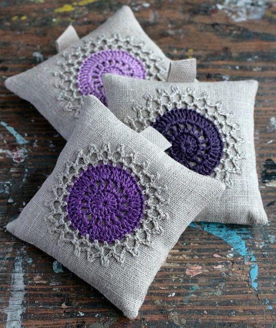 Inspiration :: Lavender sachets #crochet #sewing: