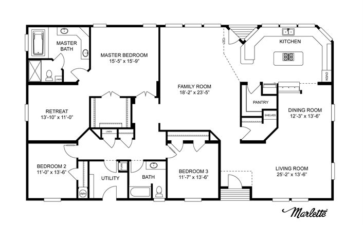 Clayton Homes | Home Floor Plan | Manufactured Homes, Modular Homes, Mobile Home--more ideas, like this as a main floor the best so far