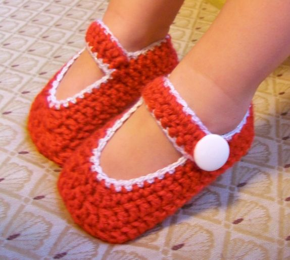 Free Crochet Pattern T Strap Booties : 147 mejores imagenes sobre Crochet: Baby Booties #3: Mary ...