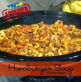 Recipe: Slow Cooker Hamburger Soup...it is soooooo good.  doubles...triples very easily.  I have to triple it my family loves it so much:)