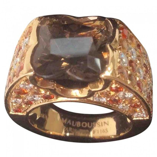 Shop MAUBOUSSIN Pink gold ring