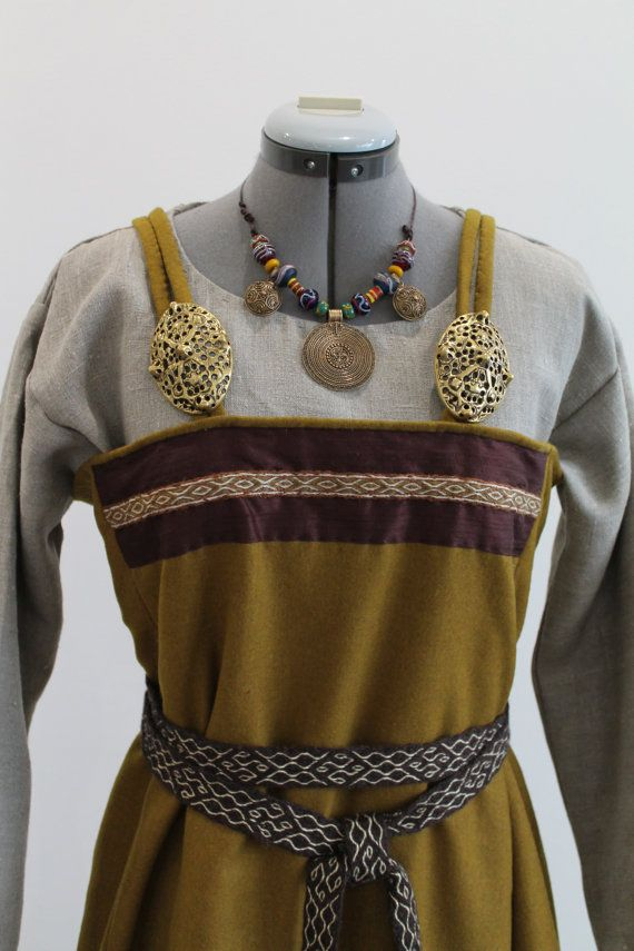 Viking age apron dress by NornasMystery on Etsy