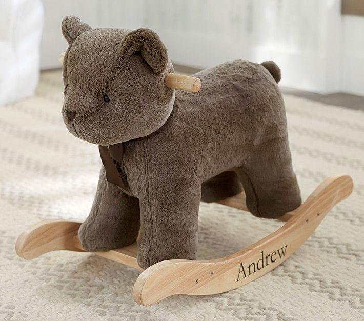 Sherpa Bunny Plush Rocker Teddy Bear Nursery Bear
