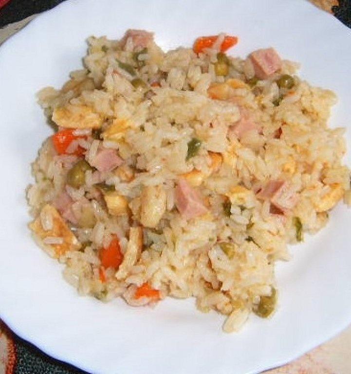 Receta de arroz tres delicias.
