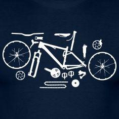 Mountainbike in Einzelteilen