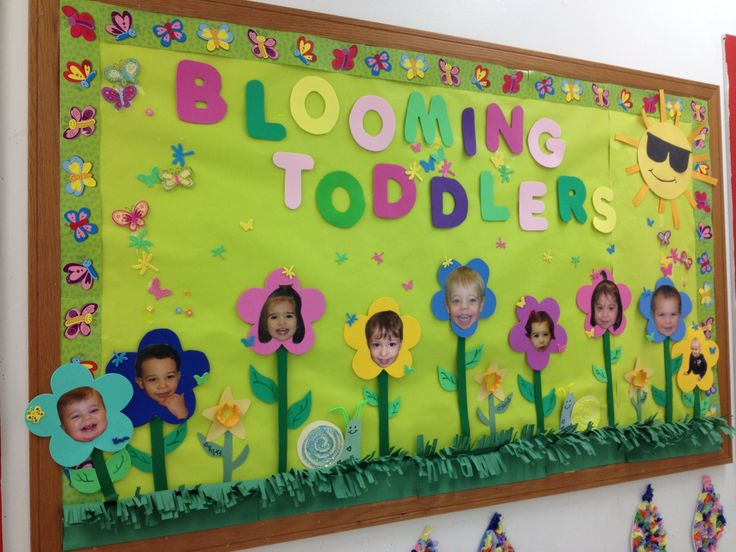 Toddler Classroom Decoration Ideas : Toddler bulletin board room pinterest spring