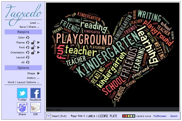 Poetry idea for young children - have teams write about topics and build word clouds to make shape poems!