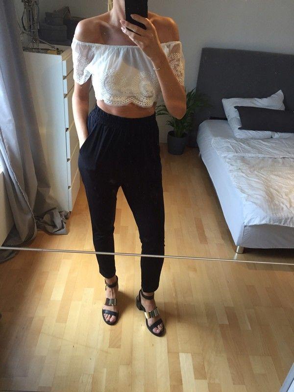 High waist hose schwarz
