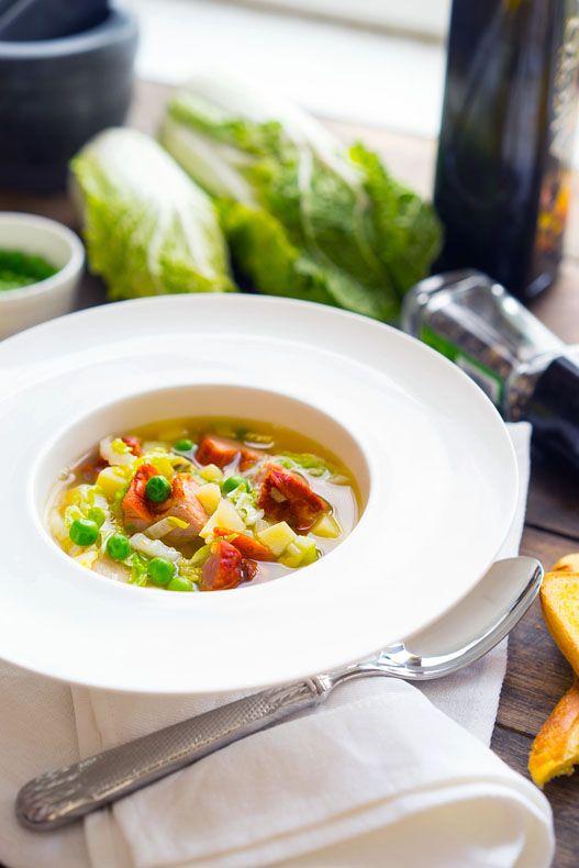 Суп-бульон с грудинкой и пекинской (савойской) капустой, пошаговый рецепт с…