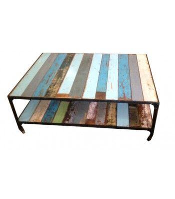 Mesa madera/hierro.