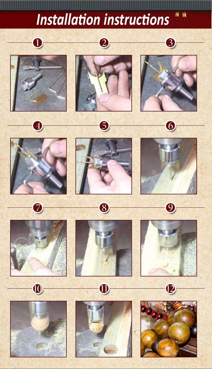 16 pçs/set bola liga faca ferramentas para trabalhar madeira diy contas de madeira broca rosário bead moldagem 7 tamanho 14/15/16/18/20/22/25mm em Peças para maquinaria de trabalho em madeira de Indústria e Ciência no AliExpress.com | Alibaba Group