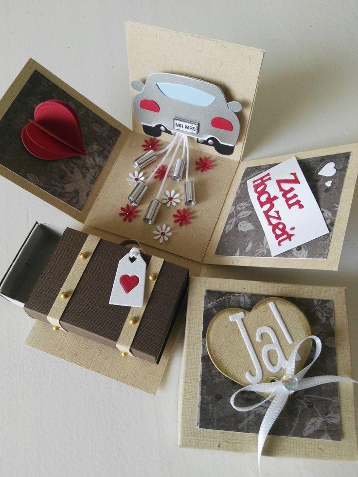 Explosionsbox Zur Hochzeit Exploding Box Card Explosion Box Card Box
