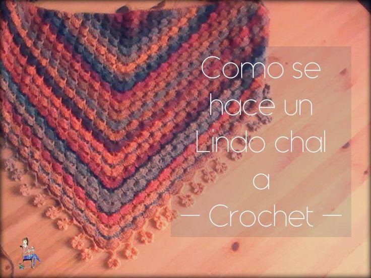 Como se hace un sencillo chal a crochet (diestro)