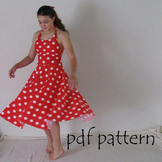 Maria Dress Pattern Pdf Sewing Pattern Halter Neck Girls