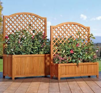41 best images about portable privacy on pinterest for Privacy planters for decks