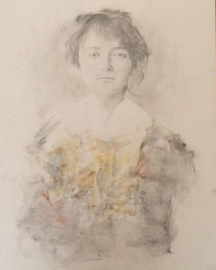 Camille Claudel. Mixta sobre papel 50x70 cm. 2016