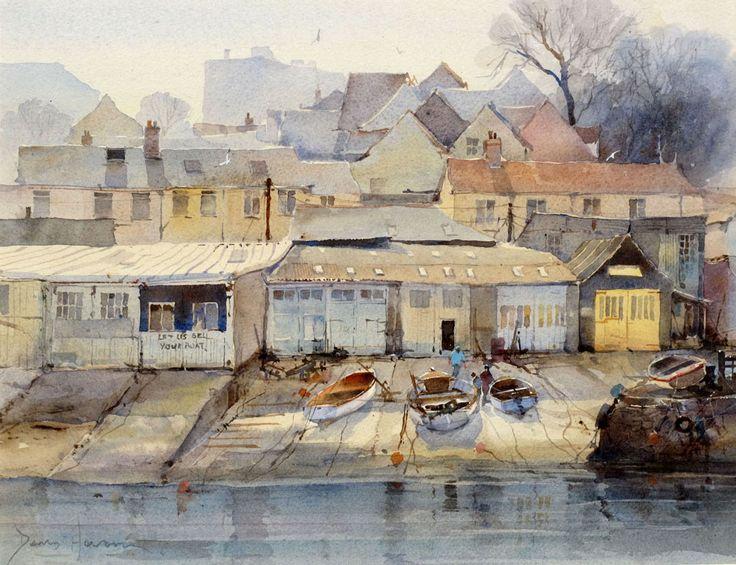 David Howell Boatsheds at Salcomb