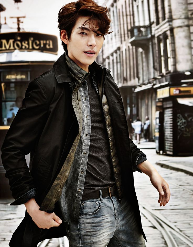 Can I just say seriously he's a cutie ^_^ Kim Woo Bin - Giordano F/W 2014