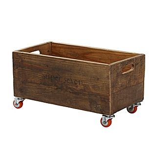 Rolling storage crate, perfect for containing anything from firewood to magazines, children's books or toys. $88 at serenaandlily.com