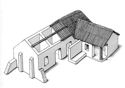 PREHISTORY, Evolution of houses- Tell Hassuna, Iraq (5500-5000 BC)