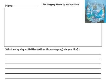 Audrey Wood Author Study Students draw a picture and write a response to the story Self to Text Connection Magic Shoelaces by Audrey Wood Weird Parents by Audrey Wood The Napping House by Audrey Wood The Full Moon at the Napping House by Audrey Wood What rainy day activities (other