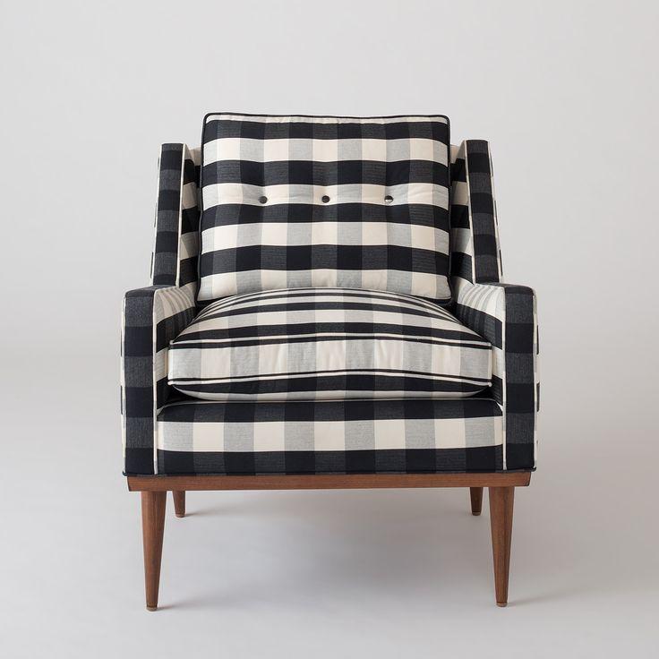 Beautiful Jack Chair   Windowpane Plaid