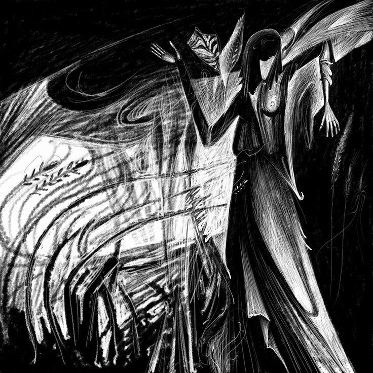 Mourning. Digital Engraving. 2016