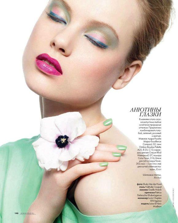 Luize Salmgrieze for #Elle Russia   #Magazine: Elle Russia  Photographer: Shoky Van der Horst  Featuring: Luize Salmgrieze  Stylist: Nathalie Croquet  #Makeup: Gaelle March  Hair: Patrice Delaroche