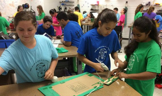 """Hands-on teaching has always involved kids in """"making."""" But today's focus on maker spaces is pushing making to a whole new level, nurturing students' curiosity and creativity. Anne Jolly shows how …"""