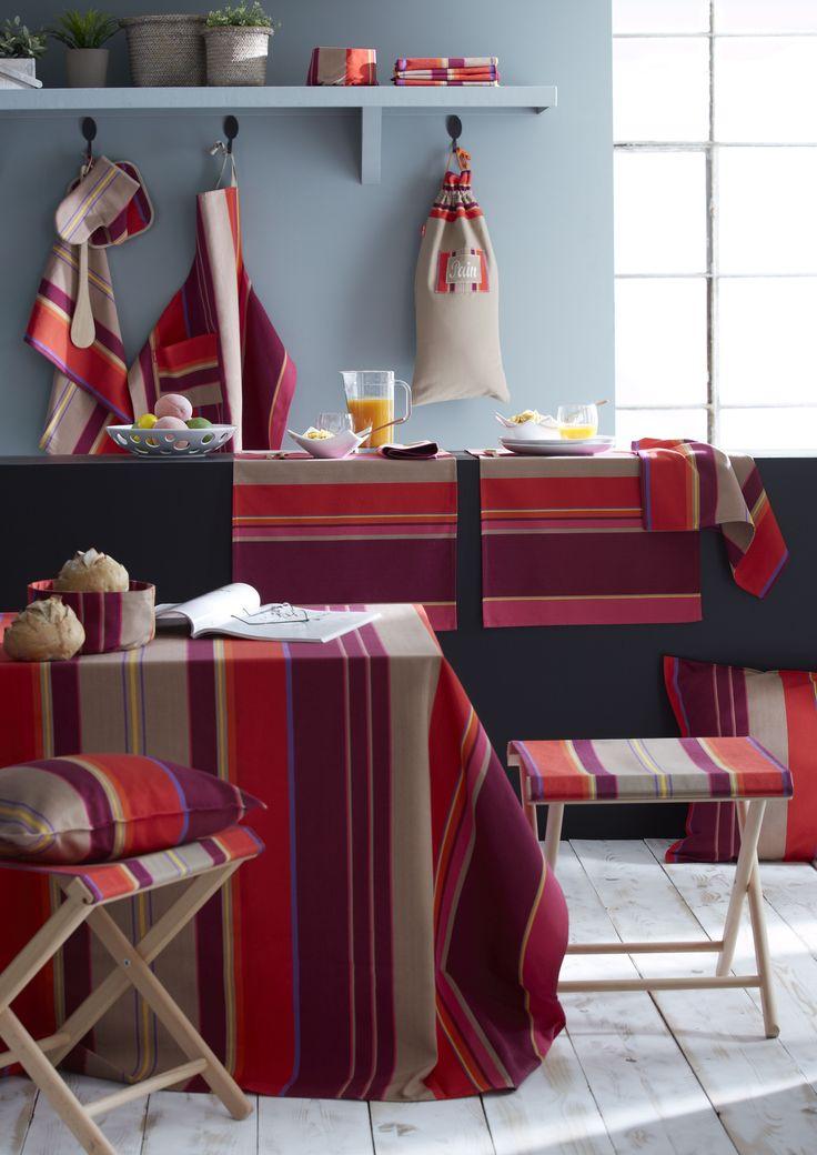 les 25 meilleures id es de la cat gorie linge basque sur pinterest basque assortiment de. Black Bedroom Furniture Sets. Home Design Ideas