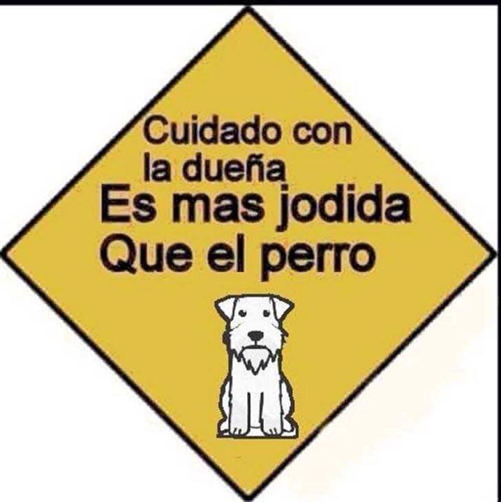 Cuidado con la dueña del perro es más peligrosa que el perro.!!! Guau !!