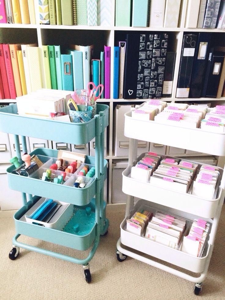 Hello I'm a Paper Addict: White Raskog Cart Anyone?Raskog Cart, Art Studios, Kitchen Carts, Ikea Raskog, Ikea Items, Ikea Carts, Crafts Room, Kitchens Carts, Craft Rooms