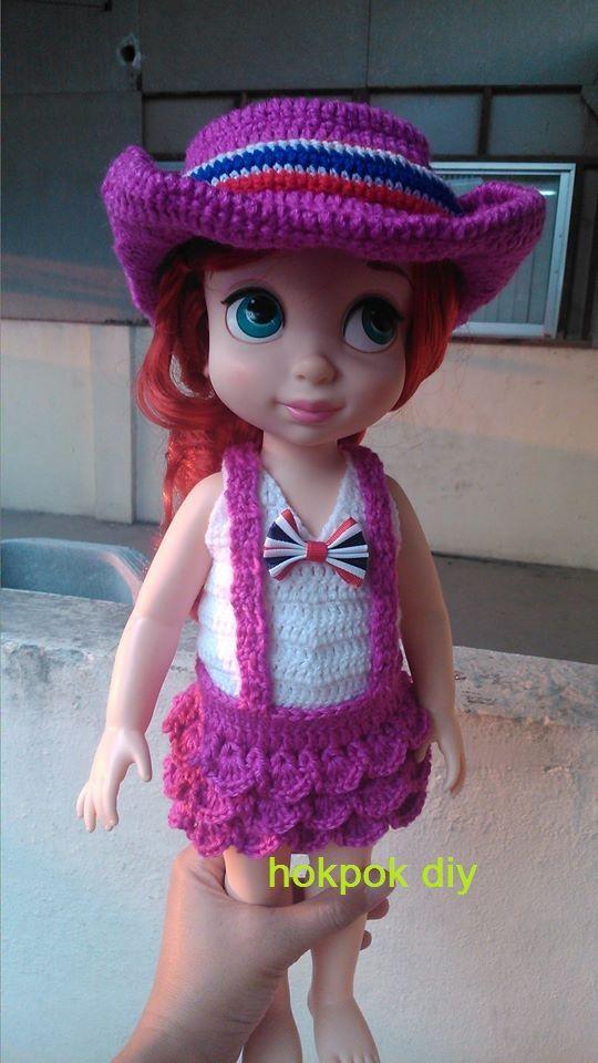 cowboy chochet doll
