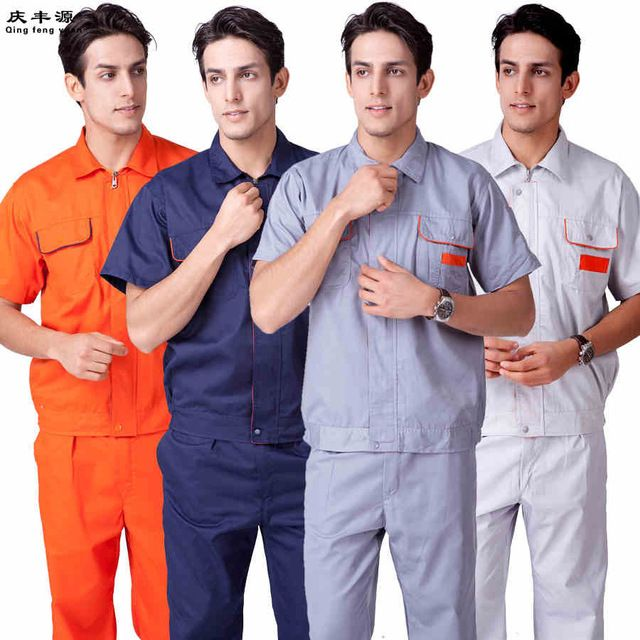 Aliexpress.com : Buy (10 sets Shirt&Pant) mechanic overalls factory worker  uniform Big tooling male Worker Short Sleeve Uniform from Reliable sleeve  holder supp…