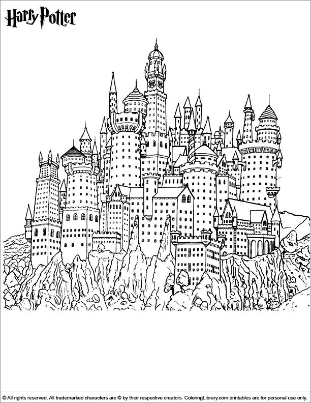 harry potter castle coloring pages - photo#2