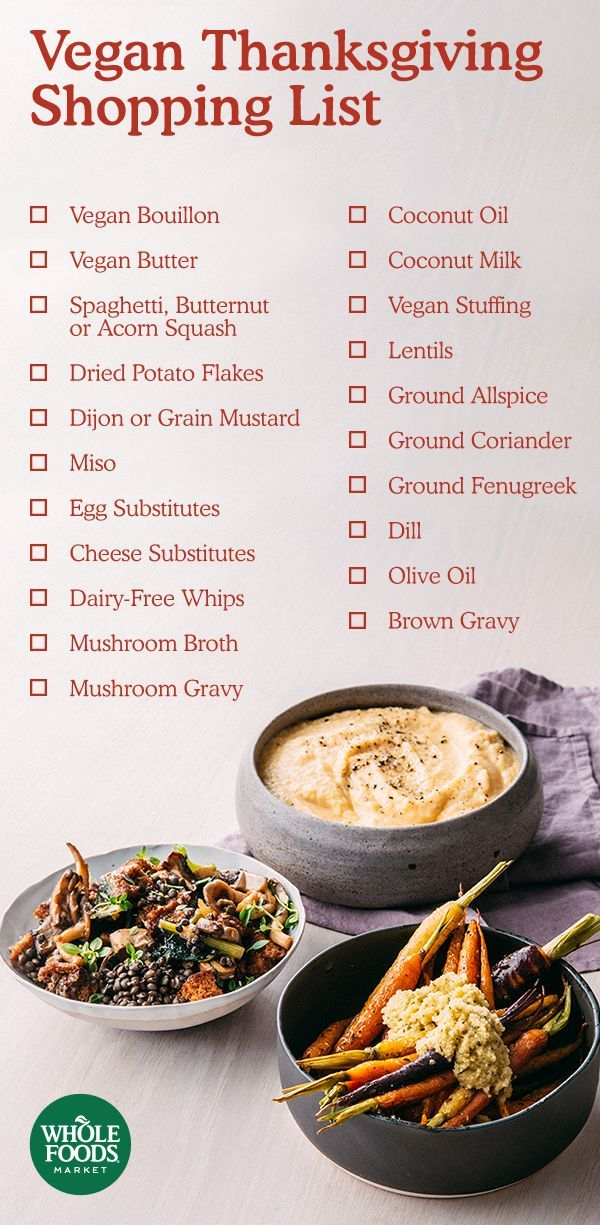 Vegan Thanksgiving Shopping List // Stock your pantry with everything you need to fill your Thanksgiving table with plant-based dishes. Use this vegan shopping list from our friends at Vedge (a fine-dining vegan restaurant) to cover your bases – and then some.