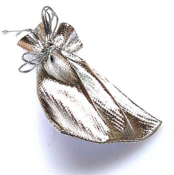 """100 шт. золото / серебро шнурок сумки ювелирные изделия подарочные пакеты 7x9cms ( 2 6/8 """" x3 4/8 """" ), бархатные сумки, органзы подарки сумка."""