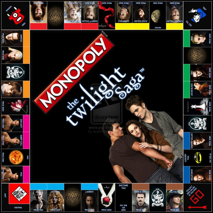 Monopoly: Twilight Edition -  I hate Monopoly but I would so play this!