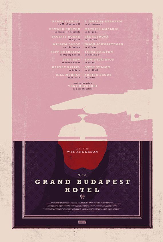 The Grand Budapest Hotel (2014), Wes Anderson.
