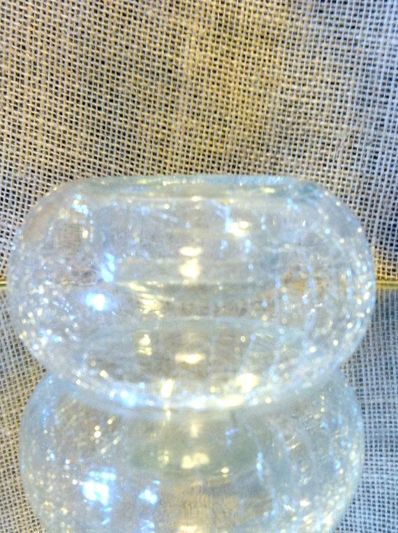 Unique Crackled Glass  Tea Light Holder with by AzaleaFields, $8.00