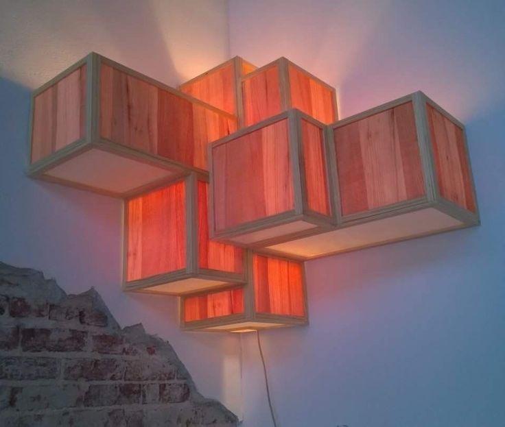 corner lamp raw veneer paper wo