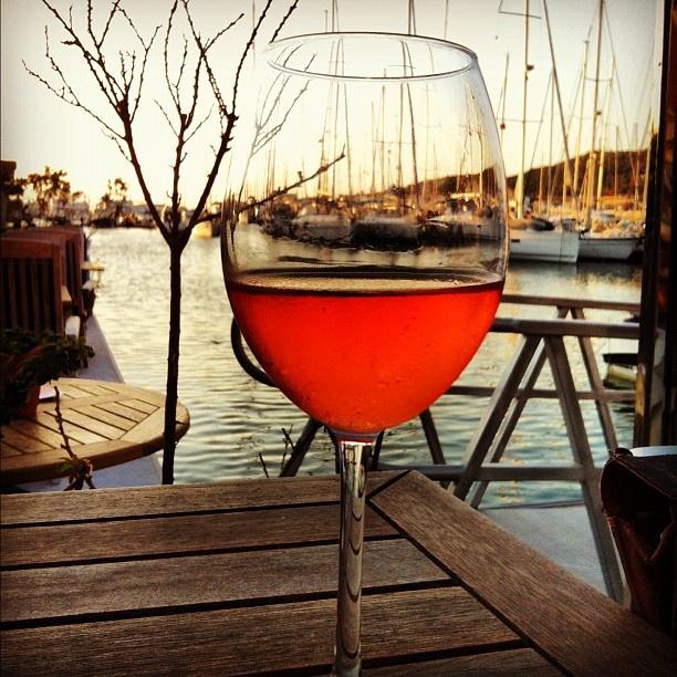 wine & sunset at Cesme Marina