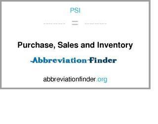 PSI: Compra, ventas e inventario