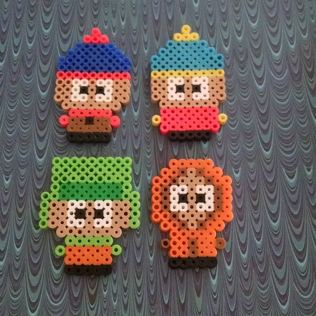 South Park perler beads by doucetcreations