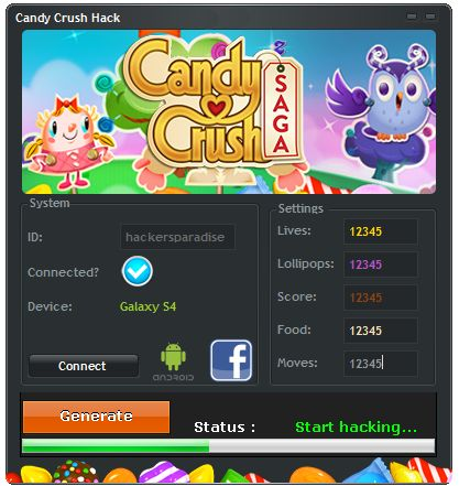 Candy Crush Saga Hack Tool [WORKING]