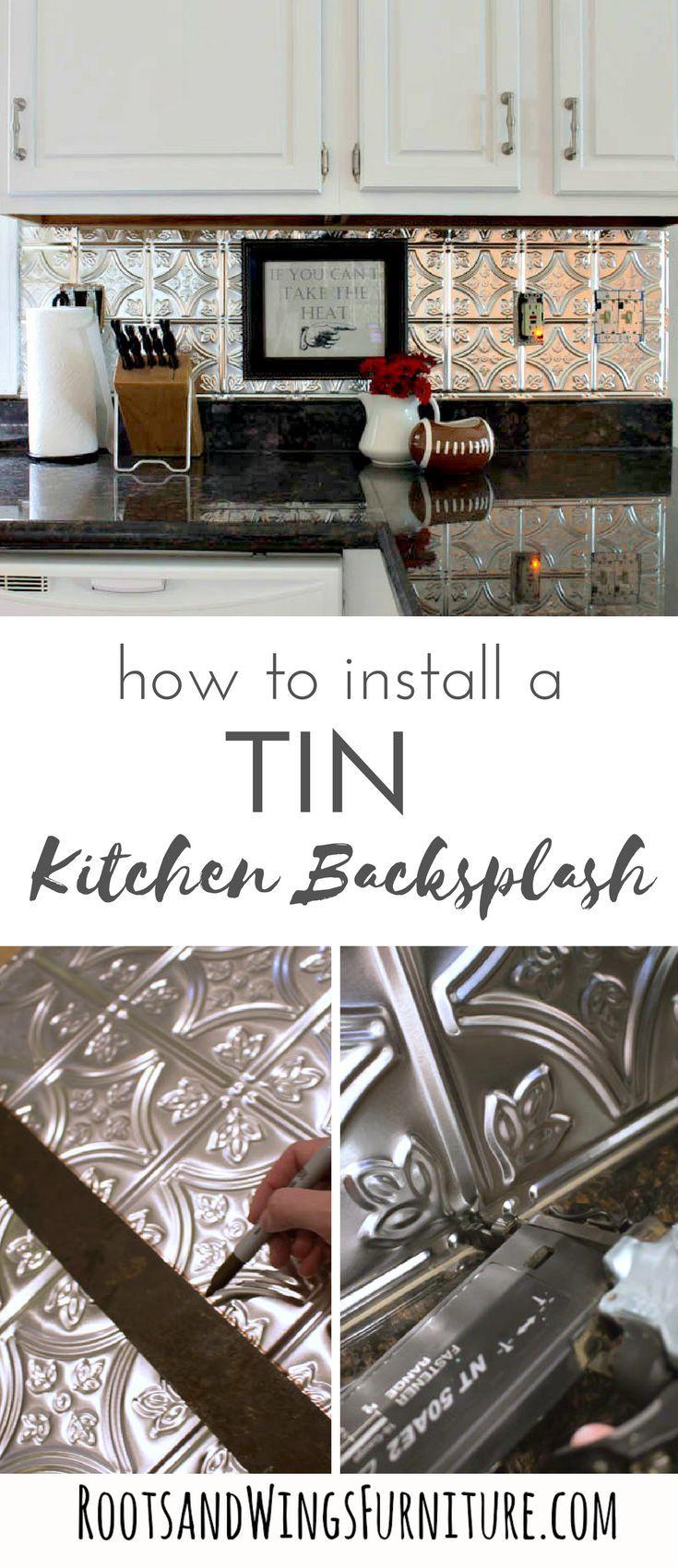 - A Painted Kitchen And Tin Backsplash Install Diy Backsplash, Diy