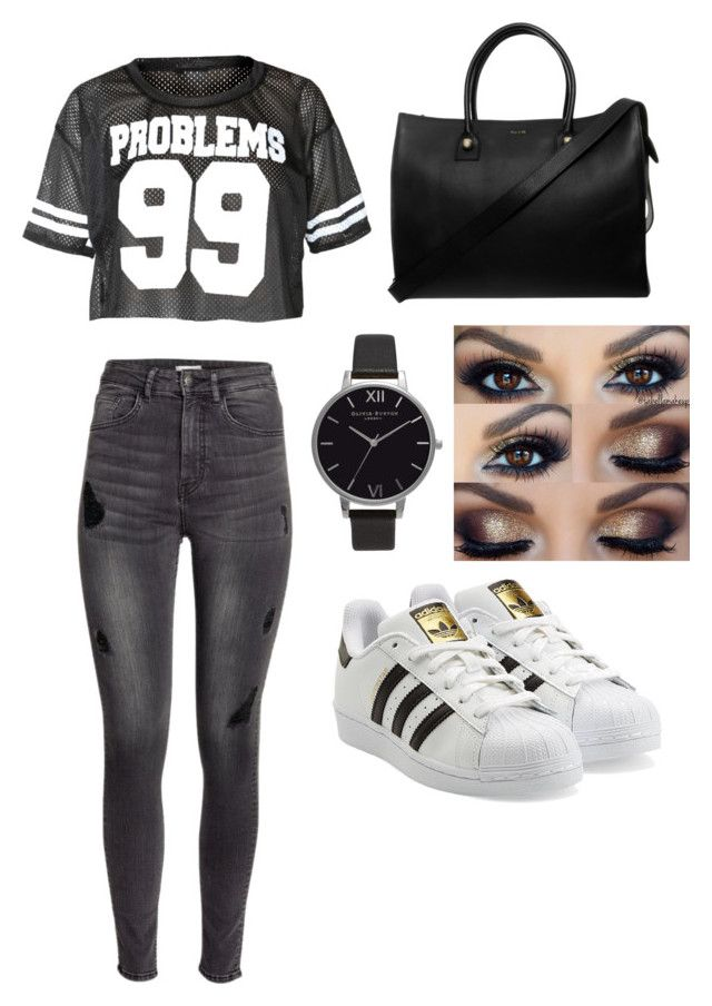 """""""Bæ's football game"""" by hannahlee01 on Polyvore featuring H&M, adidas Originals, Paul & Joe and Olivia Burton"""