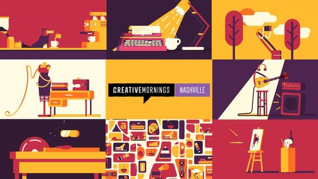 The good folks who run the Nashville chapter of Creative Mornings needed some content to kick off their events, so I made this little intro for them.    Concept/Design/Animation by Allen Laseter Music by Bryan & Steve (http://www.bryanandsteve.com/)
